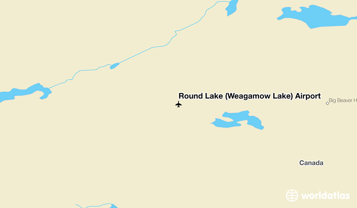 Round Lake (Weagamow Lake) Airport location on a map