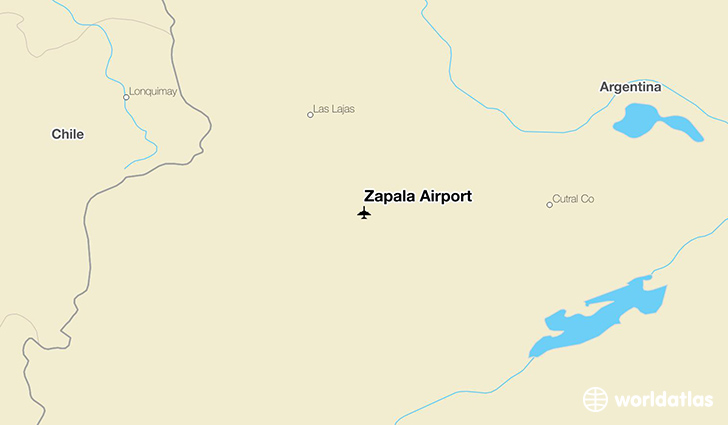 Zapala Airport location on a map
