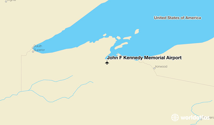 John F Kennedy Memorial Airport location on a map