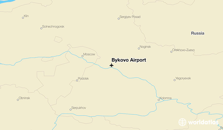 Bykovo Airport location on a map