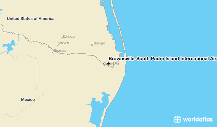 BrownsvilleSouth Padre Island International Airport BRO WorldAtlas