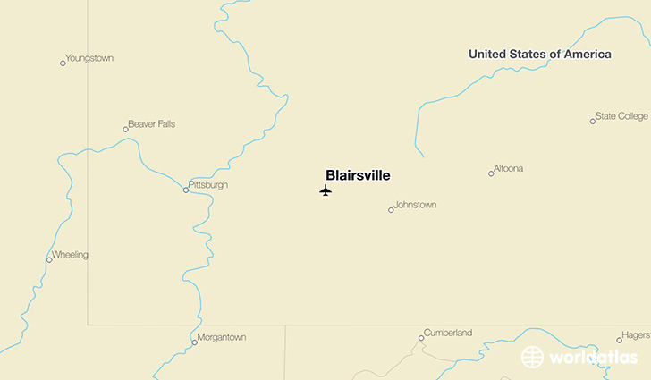 Blairsville location on a map