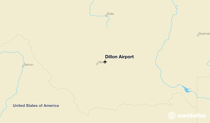 Dillon Airport location on a map
