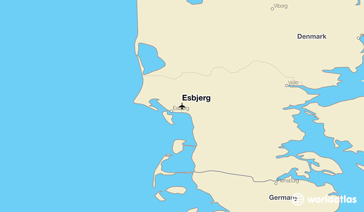 Esbjerg location on a map