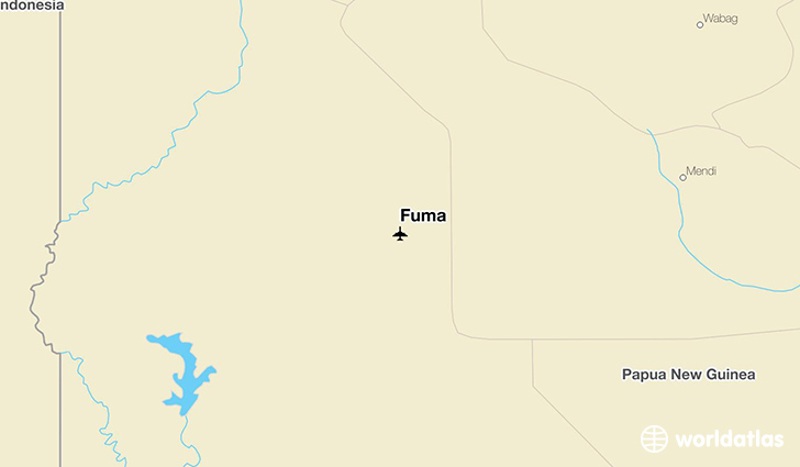 Fuma location on a map