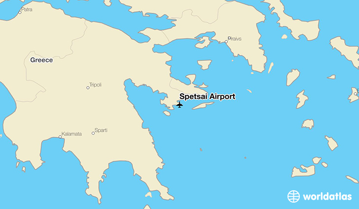 Spetsai Airport location on a map