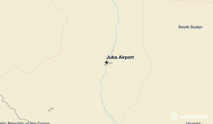 Juba Airport location on a map