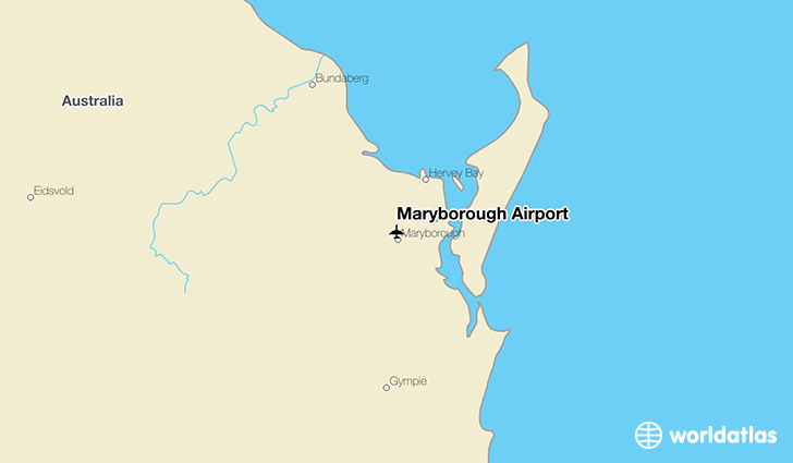 Maryborough Airport location on a map