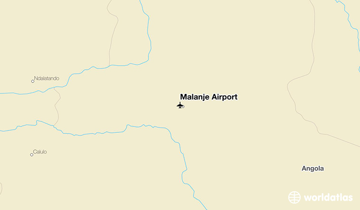 Malanje Airport location on a map