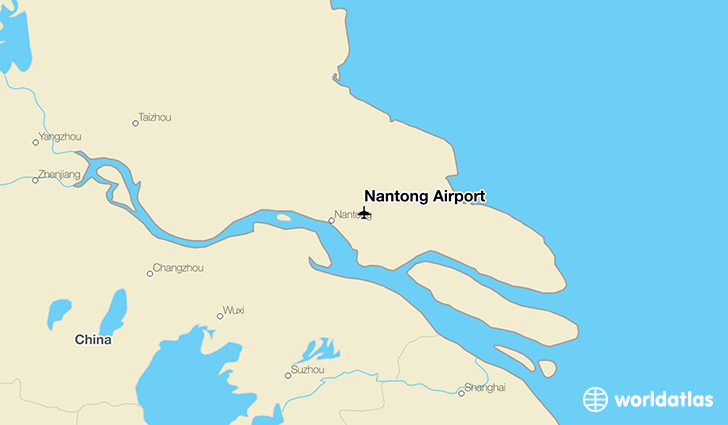 Nantong Airport location on a map