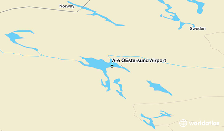 Åre Östersund Airport location on a map