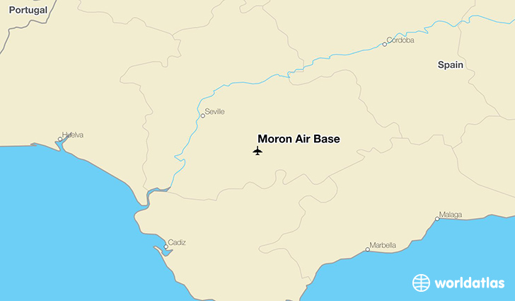 Morón Air Base location on a map