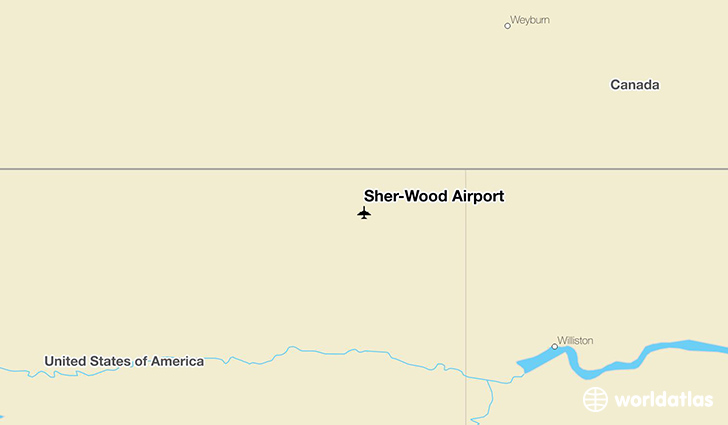 Sher-Wood Airport location on a map