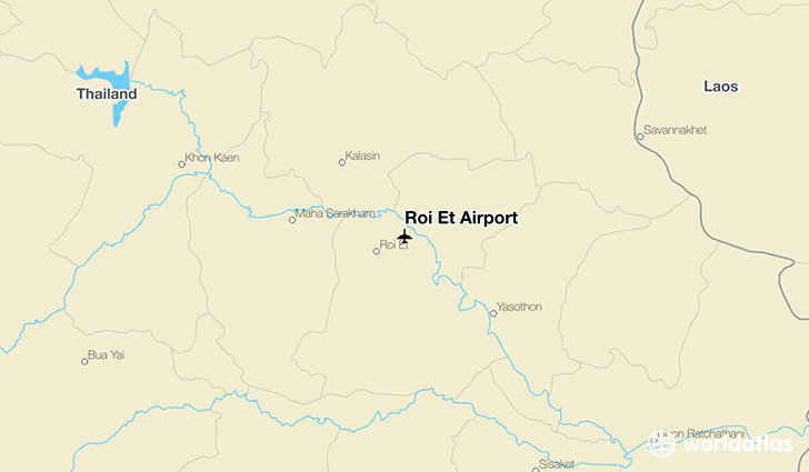 Roi Et Airport location on a map