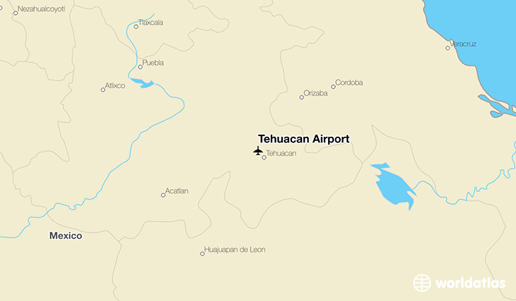 Tehuacan Airport location on a map