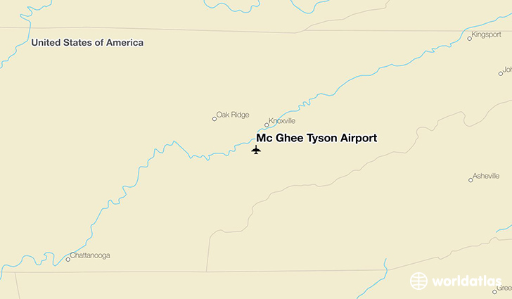 Mc Ghee Tyson Airport location on a map