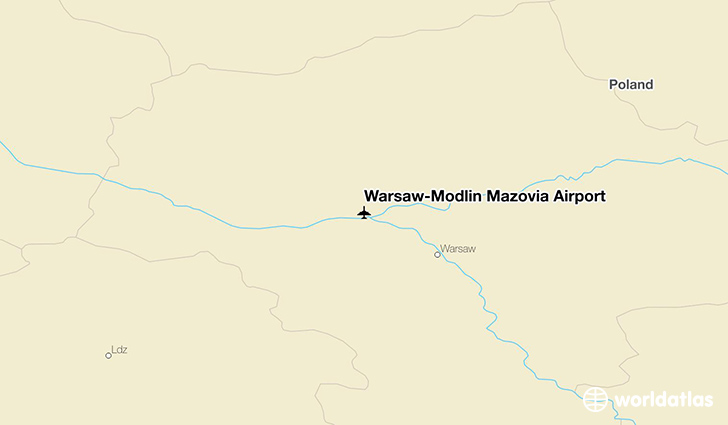 Warsaw–Modlin Mazovia Airport location on a map