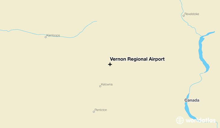 Vernon Regional Airport location on a map