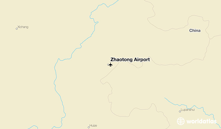 Zhaotong Airport location on a map