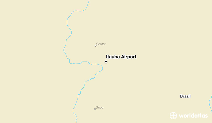 Itauba Airport location on a map