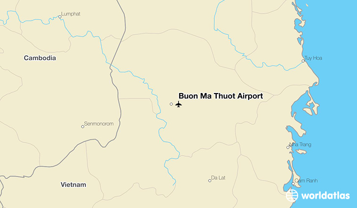 Buon Ma Thuot Airport location on a map