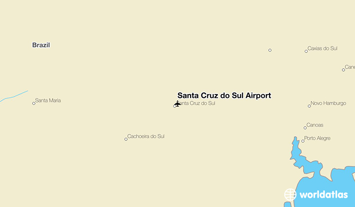 Santa Cruz do Sul Airport location on a map