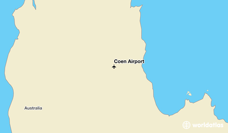Coen Airport location on a map
