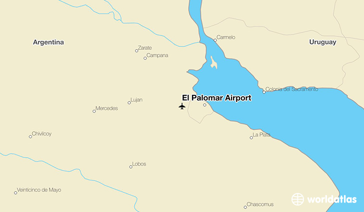 El Palomar Airport location on a map