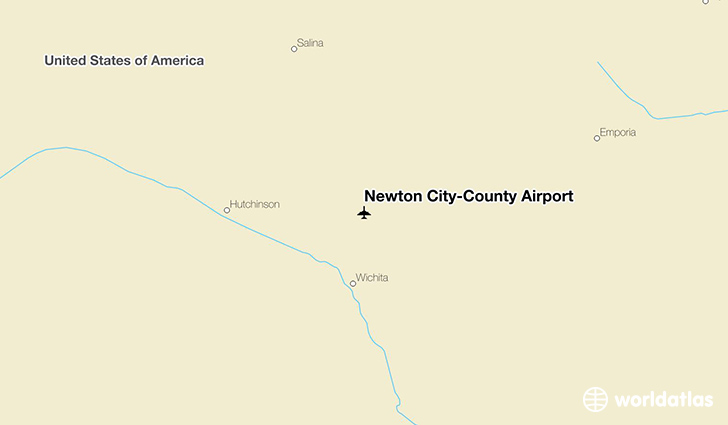 Newton City-County Airport location on a map