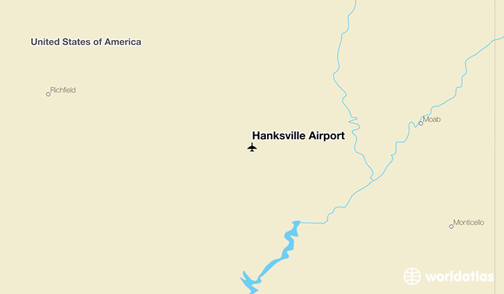 Hanksville Airport location on a map