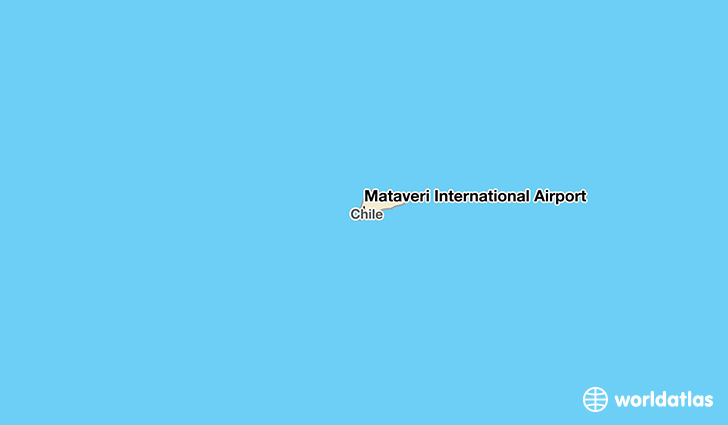 Mataveri International Airport location on a map
