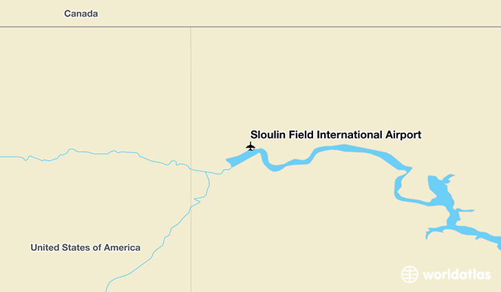 Sloulin Field International Airport location on a map
