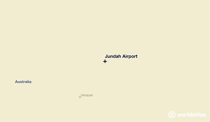 Jundah Airport location on a map