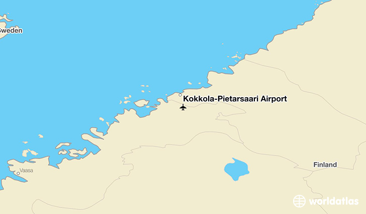 Kokkola pietarsaari airport kok worldatlas kokkola pietarsaari airport location on a map sciox Image collections