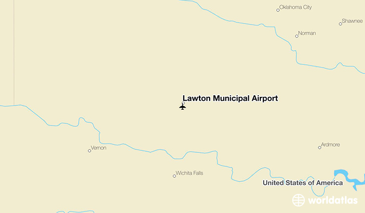 Lawton Municipal Airport location on a map