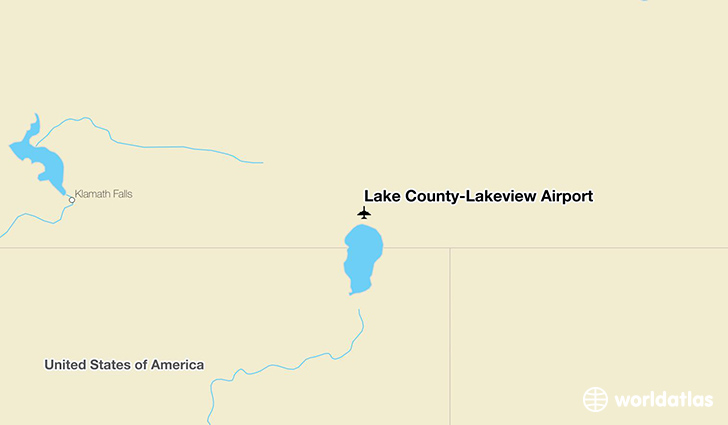 Lake County-Lakeview Airport location on a map