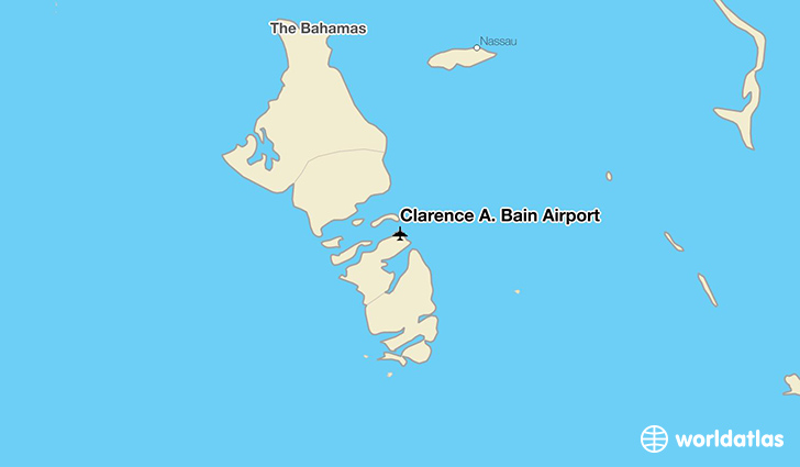 Clarence A. Bain Airport location on a map