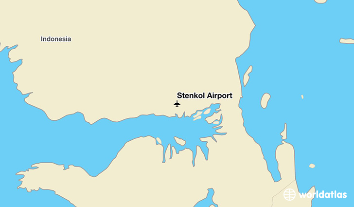 Stenkol Airport location on a map