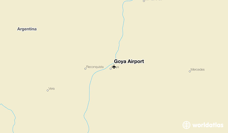 Goya Airport location on a map