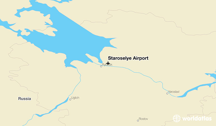 Staroselye Airport location on a map