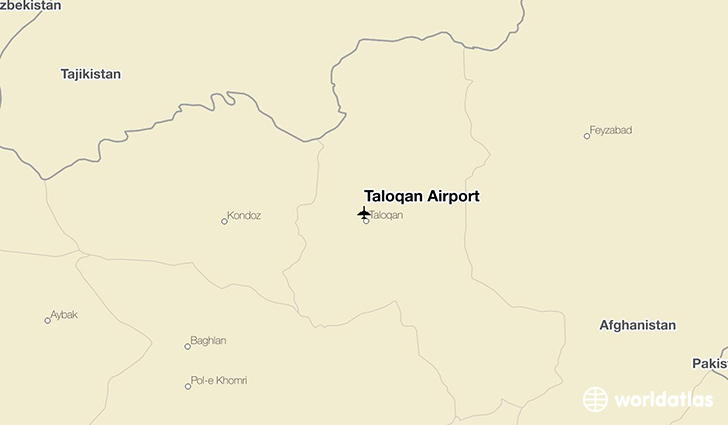 Taloqan Airport location on a map