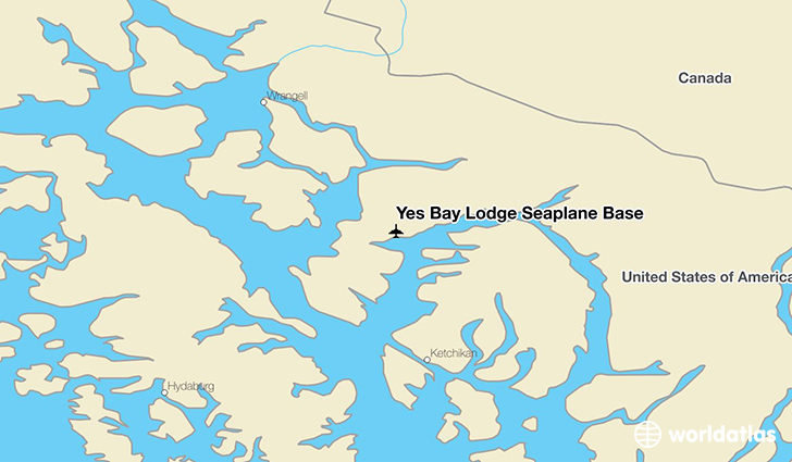 Yes Bay Lodge Seaplane Base location on a map
