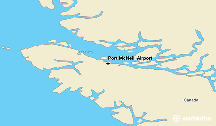 Port McNeill Airport location on a map