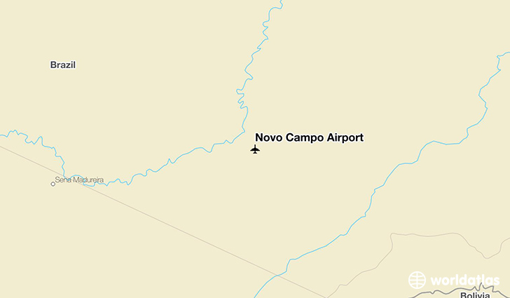 Novo Campo Airport location on a map