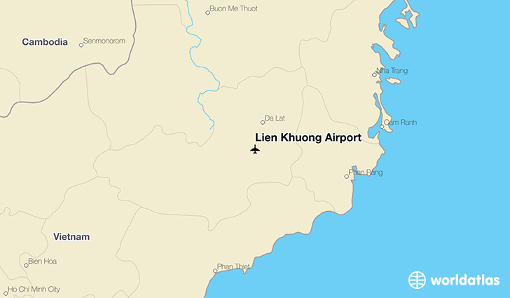 Lien Khuong Airport location on a map
