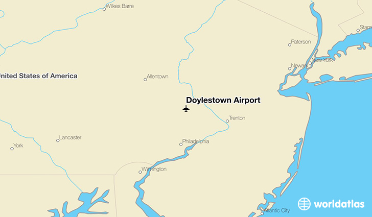 Doylestown Airport location on a map