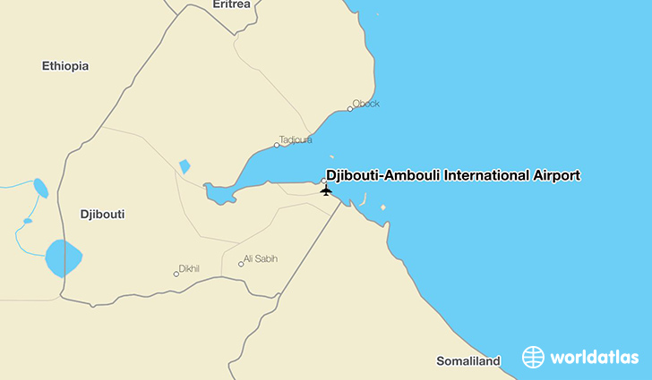Djibouti–Ambouli International Airport location on a map