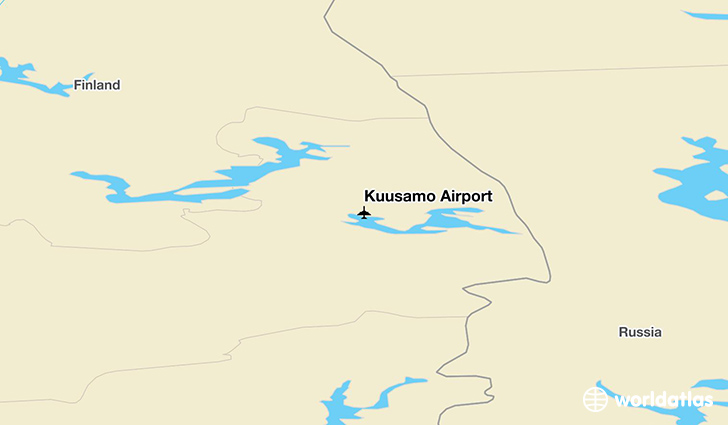 Kuusamo Airport location on a map