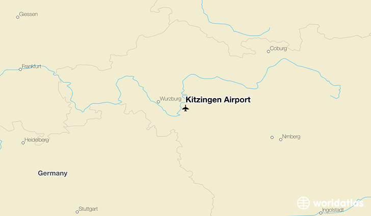 Kitzingen Airport location on a map