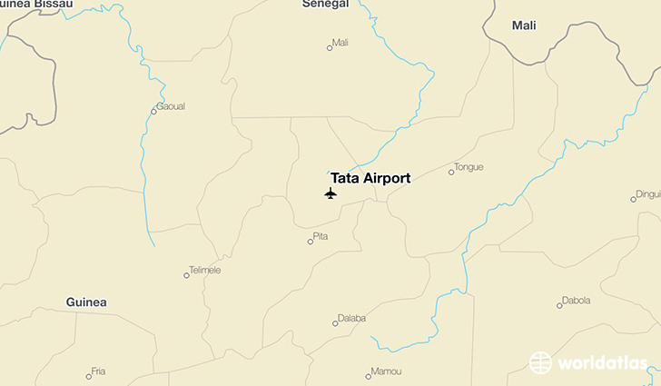 Tata Airport location on a map